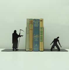 Grim Reaper Bookends, via Etsy.