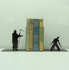 Grim Reaper Bookends, via Etsy.