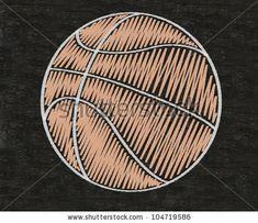 Basketball Written On Blackboard Background High Resolution, Easy ...