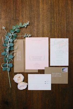 blush pink wedding invitations, photo by Shane and Lauren Photography http://ruffledblog.com/romantic-wedding-meets-winery-chic #stationery #weddinginvitations