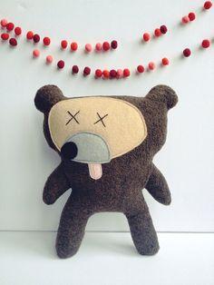 oops, dead bear, plush by virginiejolie