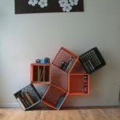 Milk crate book storage