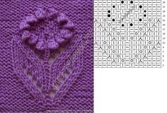 knit stitch, joli fleur