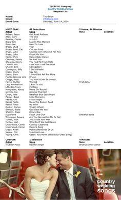{Wedding Music Playlist} EFX DJs Top 40   Country Playlist - Get All TCEFX's Playlist Ideas ♥ #Wedding #Linedance #Playlist ♥ Music to Dance to at Your Wedding
