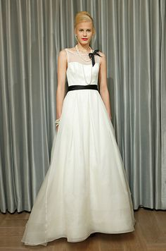 Black and white wedding dress from Alyne, Fall 2013