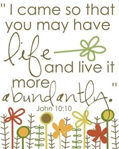 ABUNDANTLY - I just LOVE that word!