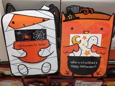 "Halloween cards ""for a boy"" and ""for a girl"" (click thru for story)"