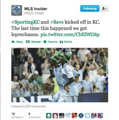 Sporting KC played their home opener on March 17. Sapong and Kamara gave the fans a special Irish inspired goal scoring celebration!