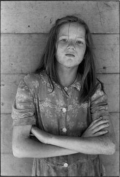 Appalachian girl in Leatherwood, Kentucky, by William Gedney in 1964.