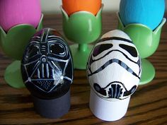 Stormtrooper and Darth Vader Easter eggs...cool.