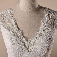 V-neck with short sleeve beaded belt A-line princess lace wedding dress.Style No.: 0bg02475,US$548.99