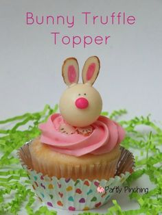 Bunny truffle topper tutorial @Lindy Faulkner Holzknecht Chocolate