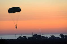 Parachuting into the sunset (U.S. Marine Corps photo by  Lance Cpl. Lauren Falk/Released)