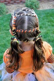 DIY Halloween Hair : Halloween Hairdos Candy Corn