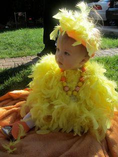 Halloween Big Bird costume for baby girl