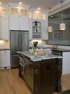 wine fridge kitchen island - Google Search
