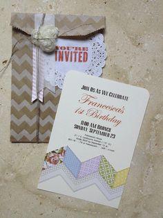 A fun handmade invitation.