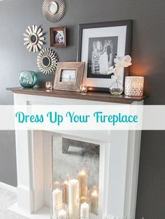Got a non-working fireplace? Here are 11 ways to make it look less boring. #fireplaces #decor