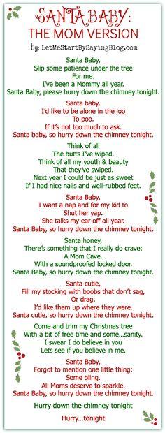 Santa, Baby for Moms! PHHHAAAAA!!!!
