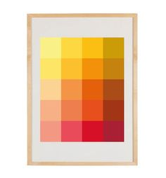 Shades Melon Art Print  Pantone Color Blocks of by bergenhouse, $24.00