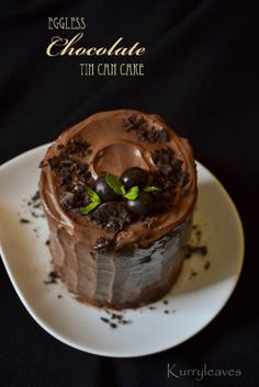 Eggless mini chocolate cake for two| Tin can cake #cake #chocolate #valentines _day
