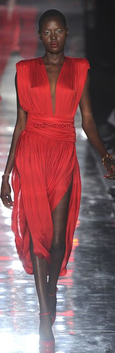 Alexandre Vauthier Fall Winter 2011 - 2012 Haute Couture Red Evening Wear