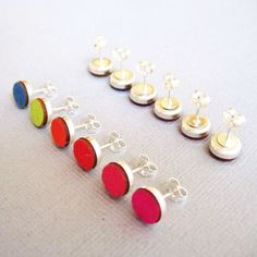 for the GIRL: wool felt & sterling silver stud earrings from A Bird of Play $25