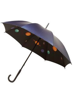 Solar system on the inside of your umbrella - quirky and so much more fun than a plain black umbrella