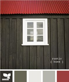 pretty color scheme #red #grey #white