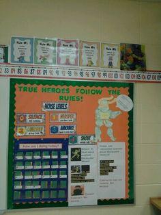 Super hero theme. Ninja turtles
