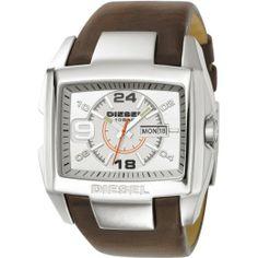 Diesel men's leather watch