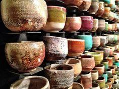 Sake cup wall