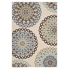 Stylishly anchor your living room seating group or patio ensemble with this artfully loomed indoor/outdoor rug, showcasing an eye-catching medallion motif.