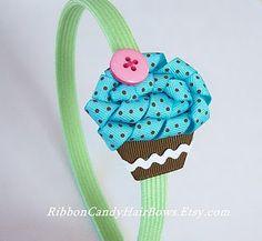 Cupcake Hairbows, perfect my Keegan!!