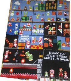 Nintendo blanket. #WANT