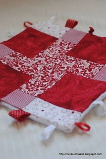 Patchwork Baby Taggy Blanket