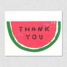 watermelon craft, card