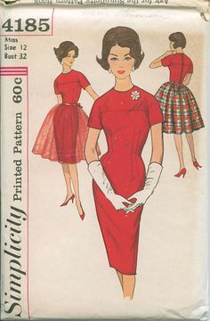 1960s Simplicity Dress and Overskirt Sewing by OhSewCharming, $12.00