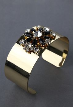 Jewel Floral Gold-tone Bracelet