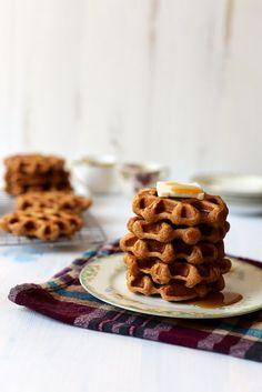 Vanilla Bean Sweet Potato Waffles