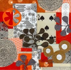 orange five archival print archival print of a collage by swallowfield on Etsy,  @Jennifer Judd-Mcgee