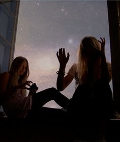 practical magic, under the stars, dreams, late nights, backgrounds, friendship, girls friends, windows, window seat