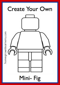Homegrown Learners - Home - Fun With LEGO Mini Figures - Create Your Own Mini Fig Printable