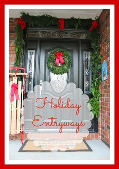 Loving this year's Holiday Entryway Ideas thanks to ProFlowers and RedEnvelope! #spon
