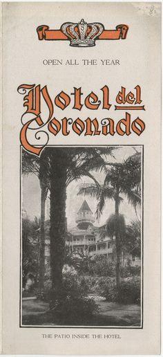 Hotel Del Coronado hotel del, brochur