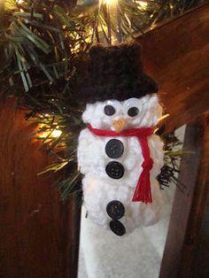 Crochet Snowman - easy
