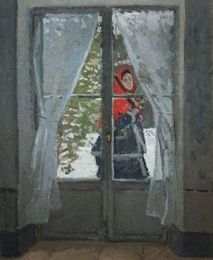 The Red Kerchief (portrait of Mrs. Monet) by Claude Monet 1873