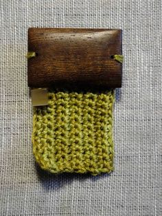 Zen Brooch - Green Rectangle by 3 Sheets