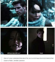 A perfect example of why in the end she could never be with Gale.