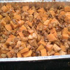 Honey Glazed Roasted Butternut Squash, Apples and Walnuts
